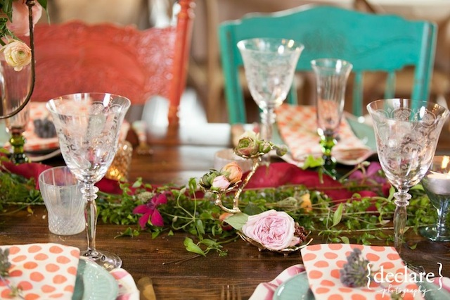 fake wedding bridal show nashville, floral table design, rustic style, the not wedding, cannery one