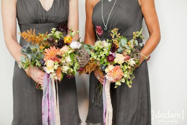 bridesmaids dresses gray, the bride room nashville, street tuxedo gray rustic style