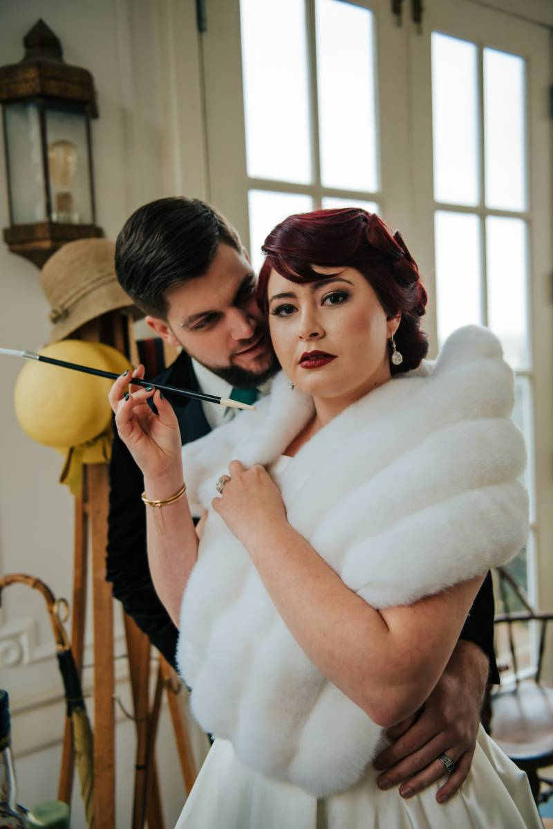 Bold Emerald 1920s Inspired Styled Shoot featured on Nashville Bride Guide
