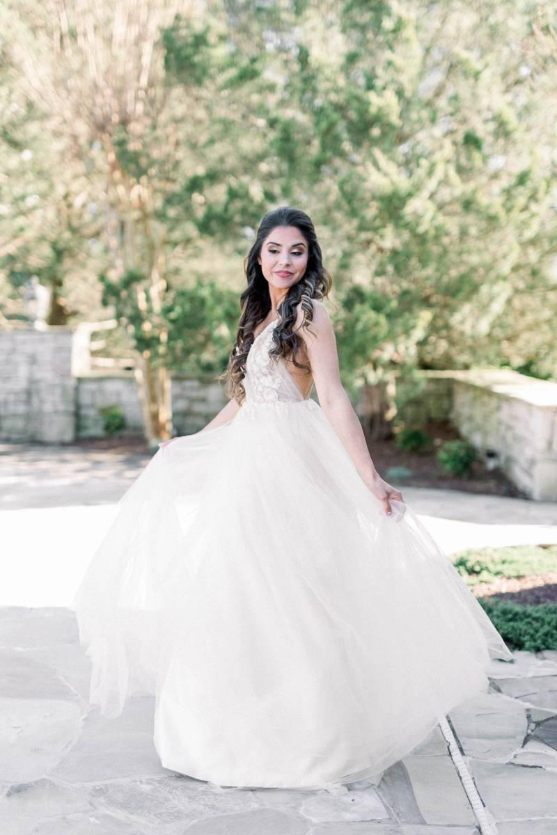 Wedding dress: Elegant southern mansion wedding inspiration featured on Nashville Bride Guide