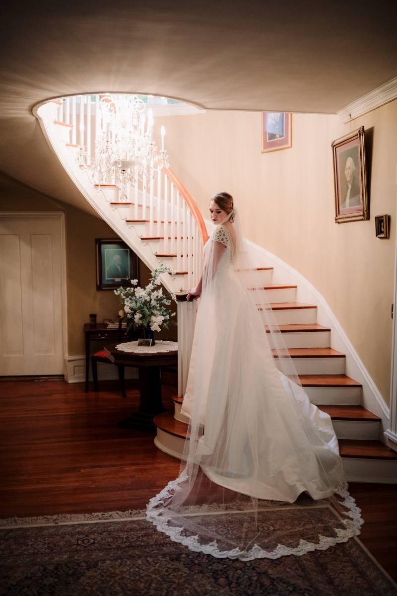 Bridal portrait: military wedding featured on Nashville Bride Guide