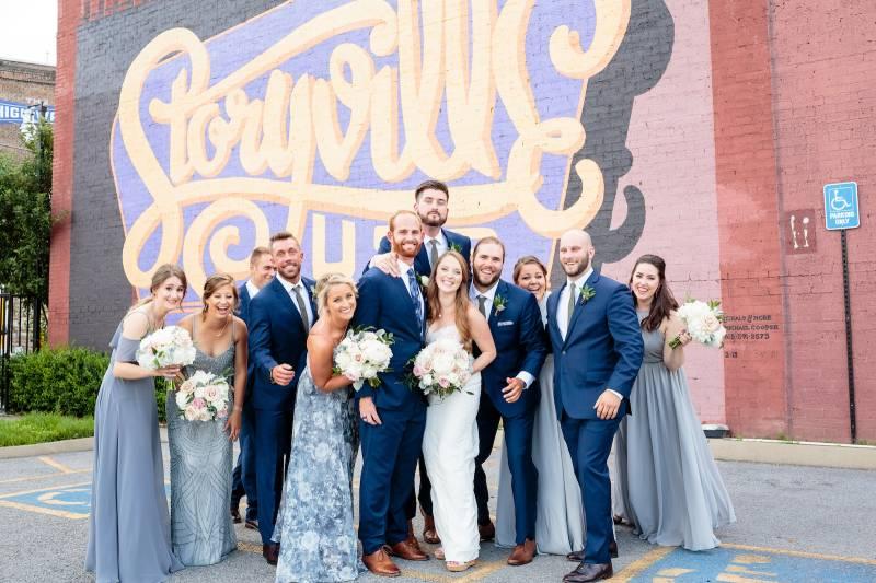 Shades of blue wedding dresses: Bella Bridesmaids Dress Color Trend Predictions on Nashville Bride Guide